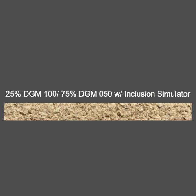 25% DGM 100/ 75% DGM 050