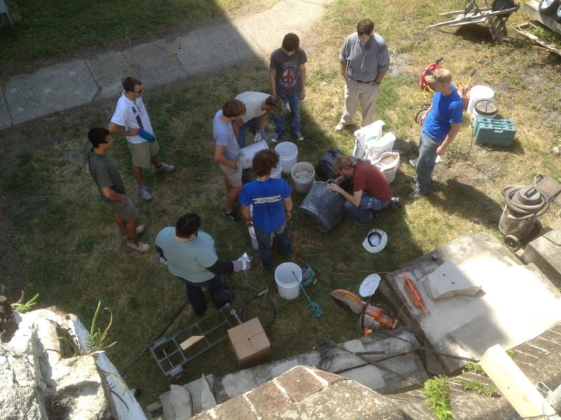 """Another """"During"""" photo of the workshop at ACBA with students from Savannah Technical College"""