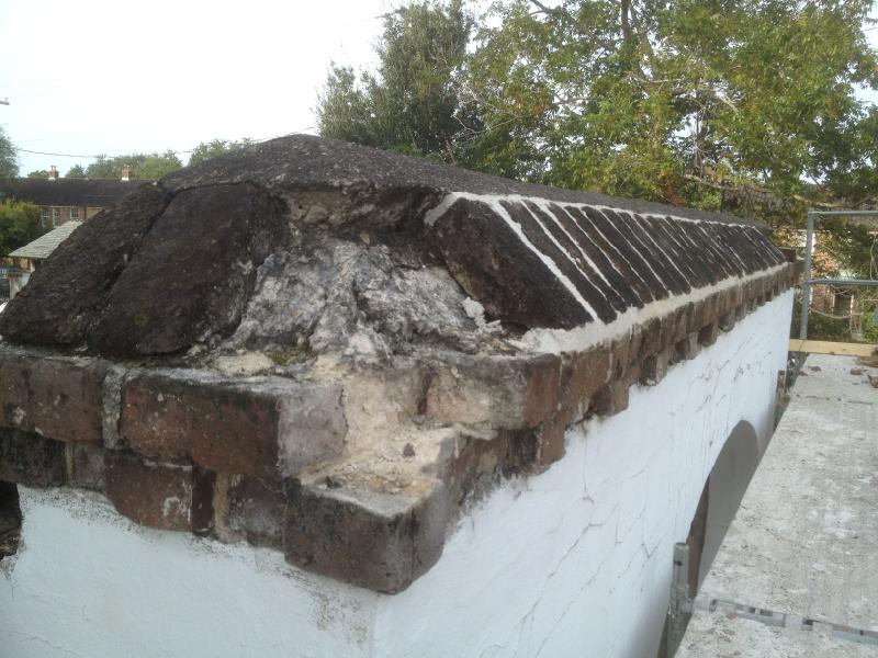 """Another """"Before"""" photo of the 2nd Presbyterian Church retaining wall in Charleston"""